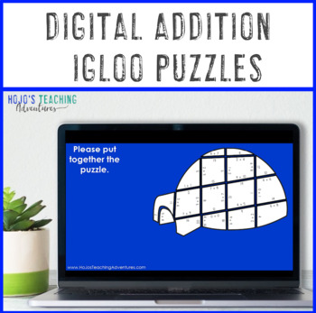 ADDITION Igloo Winter Math Puzzles | Winter Math Activities | Winter Math Games