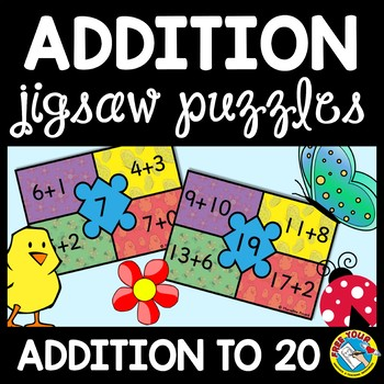SPRING MATH ACTIVITY (ADDITION CENTER OR PUZZLES)