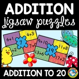 SPRING MATH ACTIVITY FIRST GRADE (APRIL ADDITION CENTER OR PUZZLES)