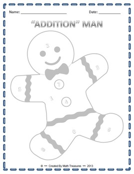 """ADDITION"" MAN - Addition with Regrouping Game"