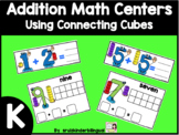 ADDITION MATH CENTERS using connecting cubes