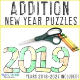 ADDITION Math Game, Centers, or Stations | New Years Activities 2019
