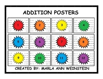 ADDITION POSTERS (Facts 1-12)