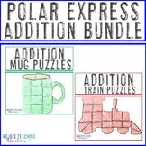 ADDITION Polar Express Activities for Math - Hot Chocolate Mug & Train FUN