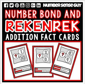 ADDITION REKENREK AND NUMBER BOND CARDS