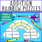 ADDITION Rainbow Activities | Rainbow Math Centers | FUN Spring Activities