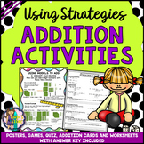 ADDITION STRATEGIES Posters Worksheets Games Quiz and Stra