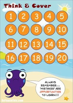 'ADDITION & SUBTRACTION GAME' - A Facts Below 20 Game
