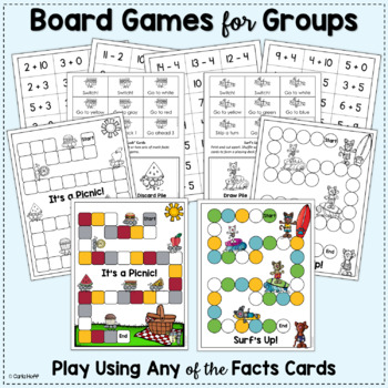 Addition & Subtraction Games to 20 (Freebie in the Preview)