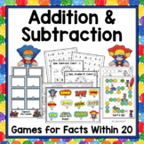 Addition & Subtraction Games  - Facts Within 20