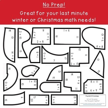 ADDITION Santa Sleigh Math Activity | Christmas Games, Puzzles, or Centers