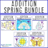 ADDITION Spring Math Centers | Games or Activities in March, April, or May