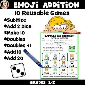 ADDITION Subitize, Make 10, Doubles MATH STATIONS