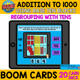 ADDITION TO 1000 WITH REGROUPING ONES USING BASE TEN BLOCK