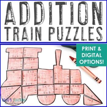 ADDITION Train Activity | Polar Express Math Activity | FUN Polar Express Lesson