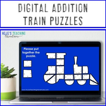 ADDITION Train Activity: Polar Express Games, Worksheet Alternatives, or Centers
