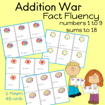 "ADDITION Card Game ""WAR"" Fact Practice"