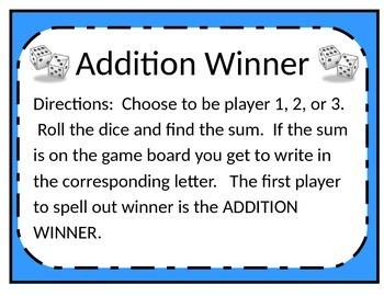ADDITION WINNER