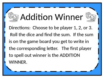 ADDITION WINNER
