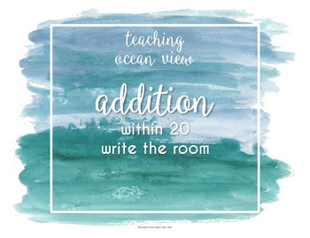 ADDITION Write the Room within 20