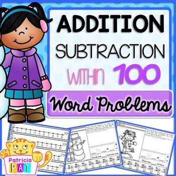 Addition Word Problems to 100 Winter Math