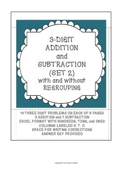 ADDITION/SUBTRACTION W/WO REGROUPING (SET 2)
