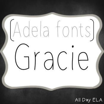 ADELA FONTS- Gracie - COMMERCIAL USE