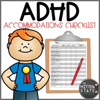 ADHD Accommodation Checklist