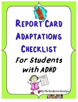 ADHD Report Card Adaptations Checklist