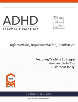 ADHD- Classroom Strategies