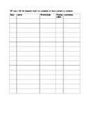 ADHD  prompt monitoring teacher data collection sheets