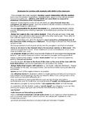 ADHD strategies for teachers