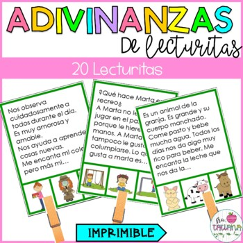 ADIVINANZAS DE LECTURITAS/ PREDICCIONES COMPRENSIÓN DE LECTURA