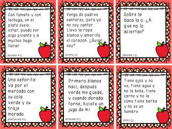ADIVINANZAS/ RIDDLES IN SPANISH