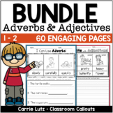 ADJECTIVES AND  ADVERBS  Worksheets BUNDLE