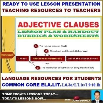 ADJECTIVE CLAUSE: LESSON PRESENTATION
