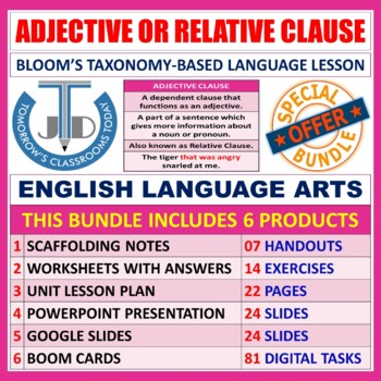 ADJECTIVE CLAUSES: BUNDLE