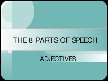 ADJECTIVE NOTES POWERPOINT