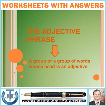 ADJECTIVE PHRASES WORKSHEETS WITH ANSWERS