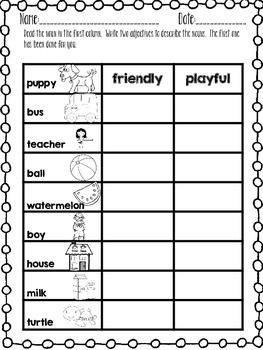 ADJECTIVES ACTIVITY PACK