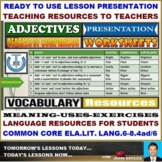 ADJECTIVES - DEGREES OF COMPARISON: LESSON PRESENTATION