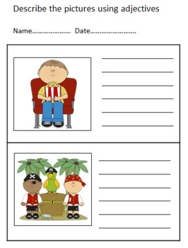 ADJECTIVES - DESCRIBE THE PICTURES