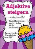 ADJEKTIVE steigern! Deutsch / German adjectives comparison for kids + reading