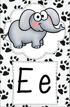 ADORABLE Animal Alphabet - Animal Print - Half Page Sized