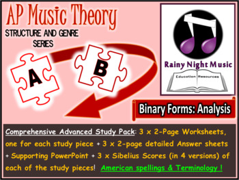ADVANCED MUSIC THEORY Complete Topic STRUCTURE and ANALYSIS Binary Form