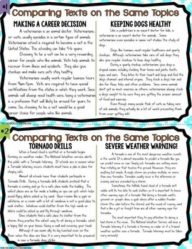 ADVANCED Reading Skills Task Card Bundle