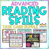 ADVANCED Reading Skills Task Card Bundle