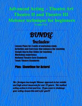ADVANCED THEATRE BUNDLE - GRADES 7-12 MEISNER FOR YOUNG ACTORS