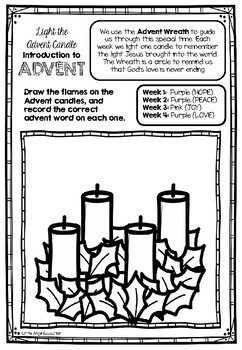 ** INTRO TO ADVENT ** ~ LIGHT THE ADVENT CANDLE ~ ADVENT ACTIVITIES