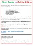 ADVENT CALENDAR for Christian Children (Generic)